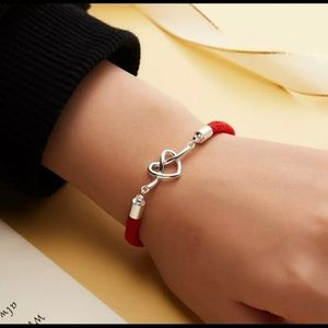Red and silver bracelet